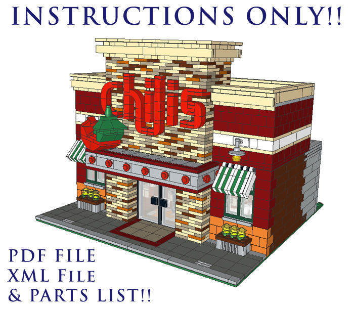 Purchase Custom Lego Instructions Chilis Restaurant