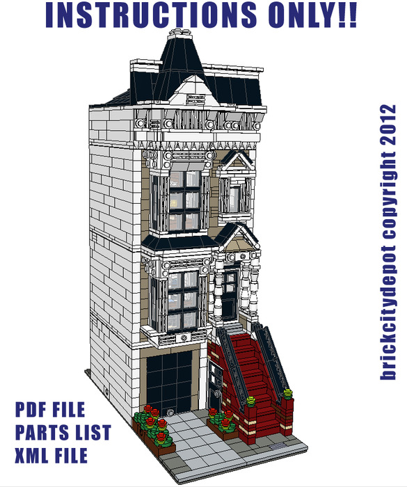lego house building instructions