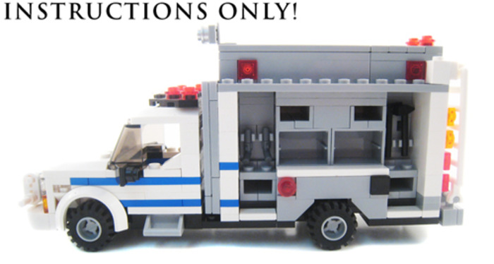 Purchase Custom Lego Instructions Nypd Radio Truck
