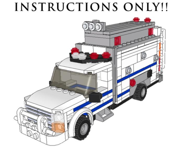 Purchase Custom Lego Instructions Nypd Radio Truck