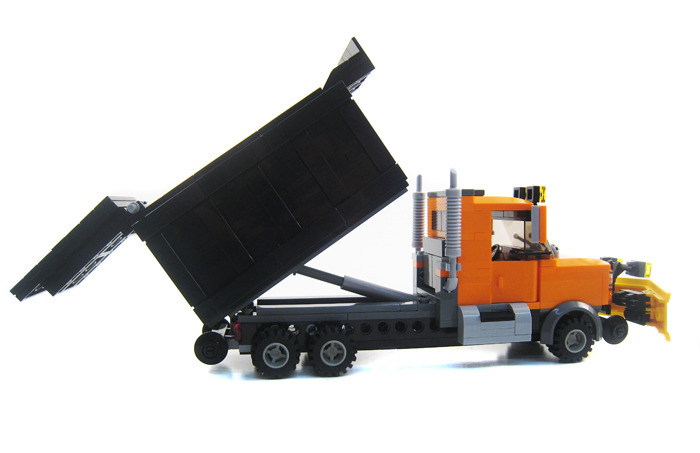 purchase custom lego instructions  hi rail dump truck