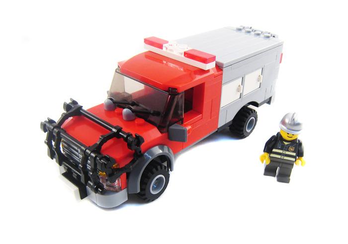 Purchase Custom Lego Instructions Fire Brush Truck