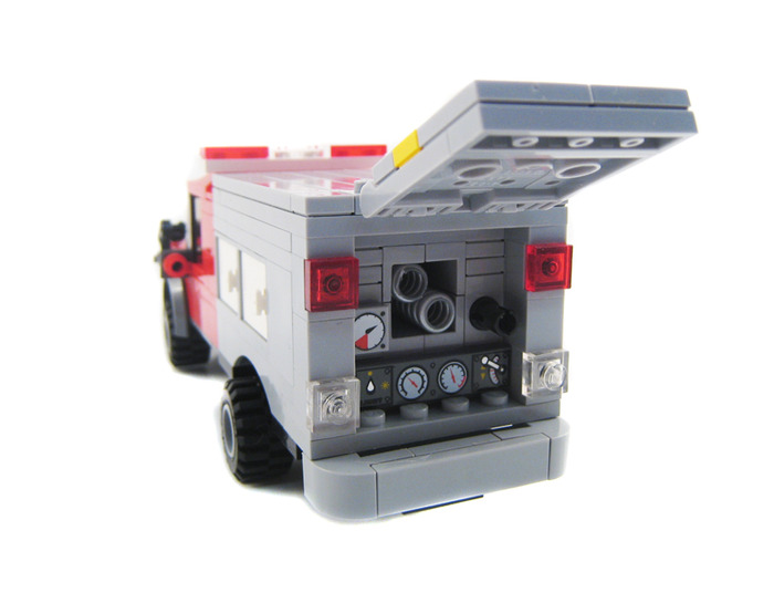custom lego fire truck instructions