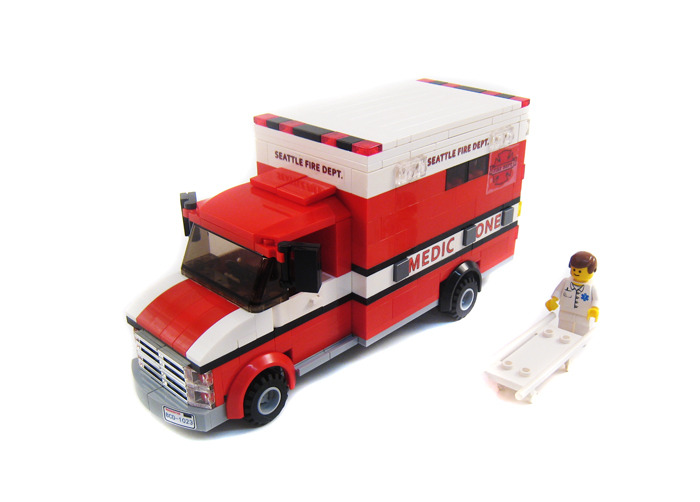 Purchase Custom Lego Instructions American Ambulance