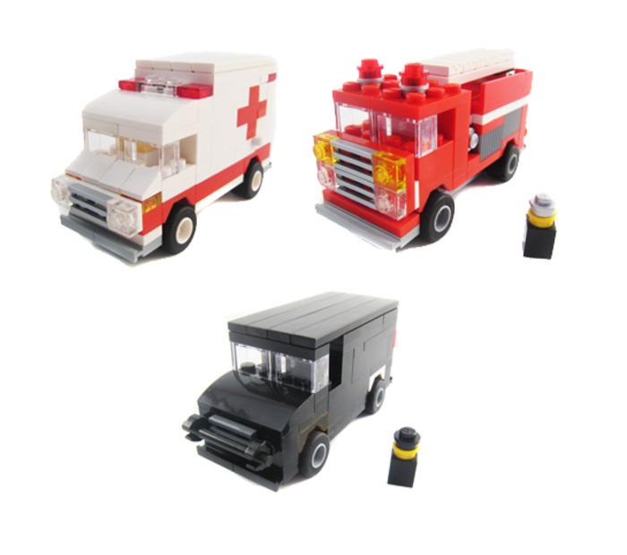 Purchase Custom Lego Instructions Mini Emergency Vehicles