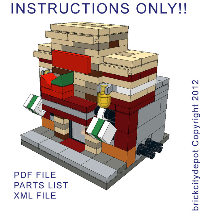 Purchase Custom Lego Instructions Mini Chilis Restaurant