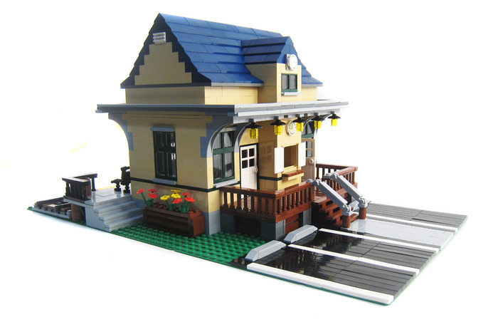 Small Town Train Station