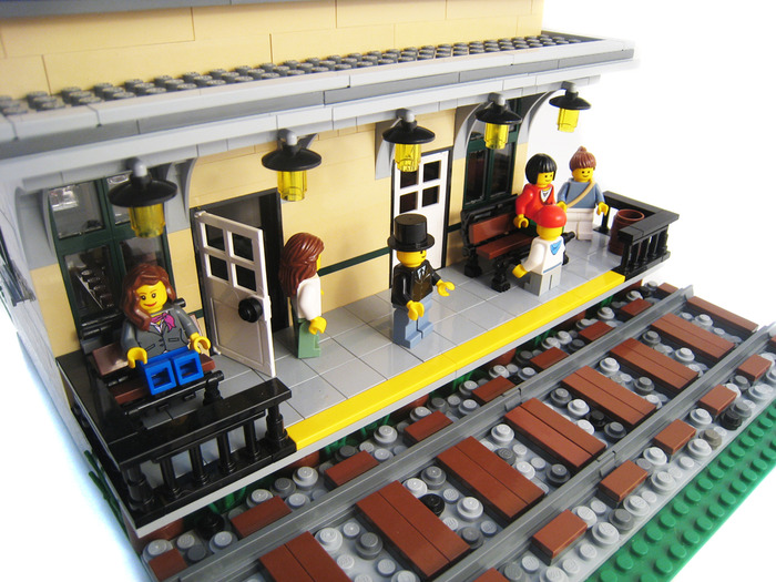 Purchase Custom Lego Instructions Small Town Train Station