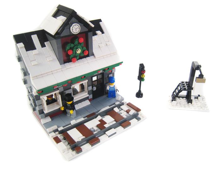 Purchase Custom Lego Instructions Winter Village Train Station