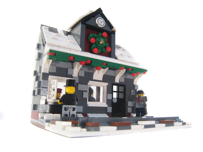 Purchase Custom Lego Instructions Winter Village Train Station