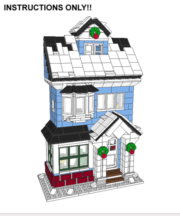 Purchase Custom Lego Instructions Winter Village Victorian House