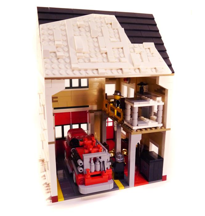 Purchase Custom Lego Instructions Winter Village Fire Station