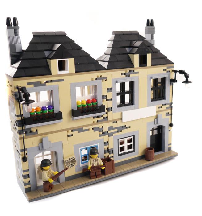 Purchase custom Lego instructions: WWII Folding French House