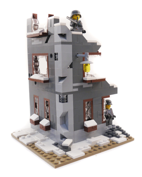 Purchase custom Lego instructions: WWII Ruined Factory