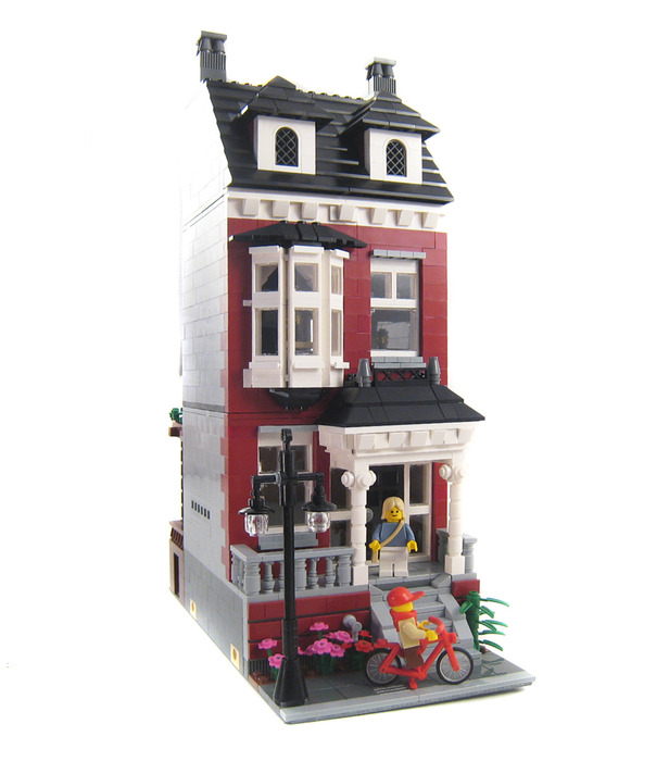 Purchase Custom Lego Instructions Colonial Revival House: custom build a house online