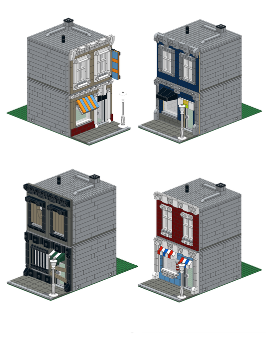 Purchase Custom Lego Instructions Commercial Facade Pack